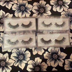 Set of 4 luxe 3D Mink Lashes for just $20 reusable